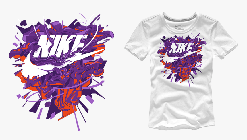 Graphic Nike T Shirt Design, HD Png Download, Free Download