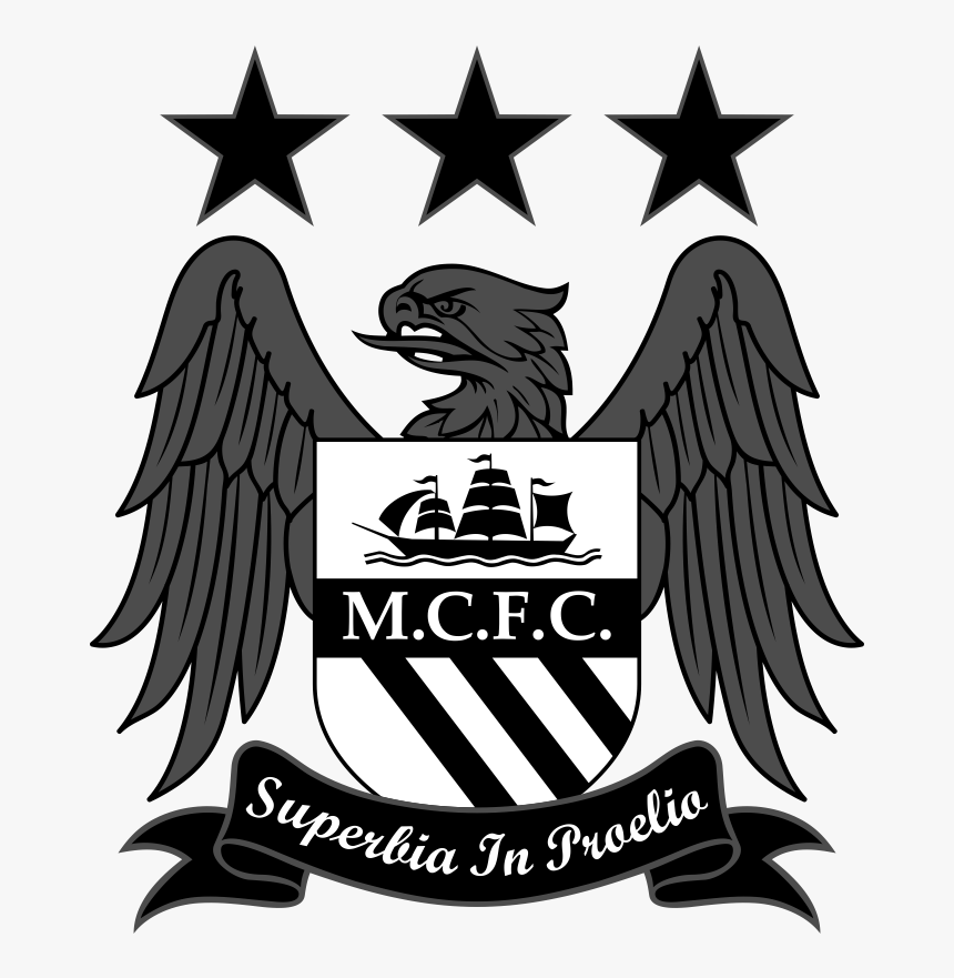 Manchester City Logo Black And White Png Png Download Man City Logo Vector Transparent Png Kindpng