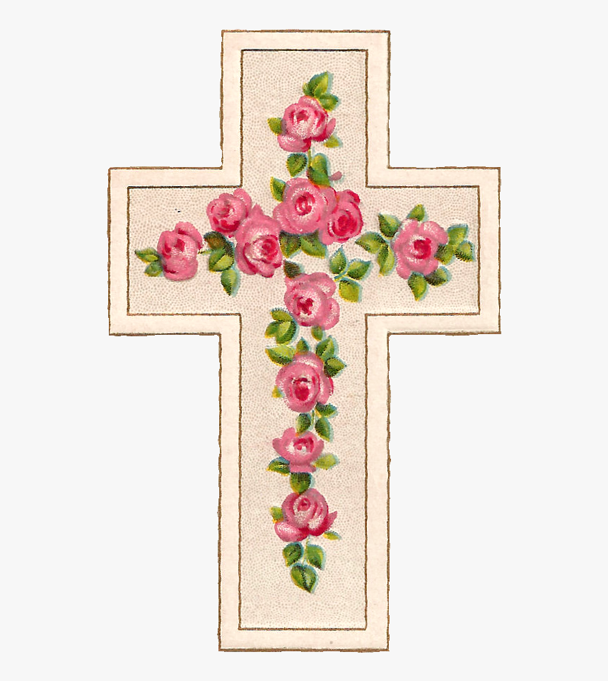 Transparent Free Easter Clipart - Pink Flower Cross Clipart, HD Png Download, Free Download