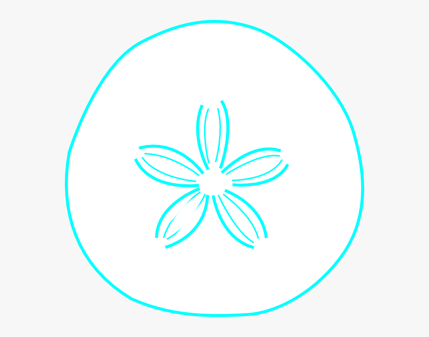 Sand Dollar Teal Clip Art At Vector Clip Art - Circle, HD Png Download, Free Download