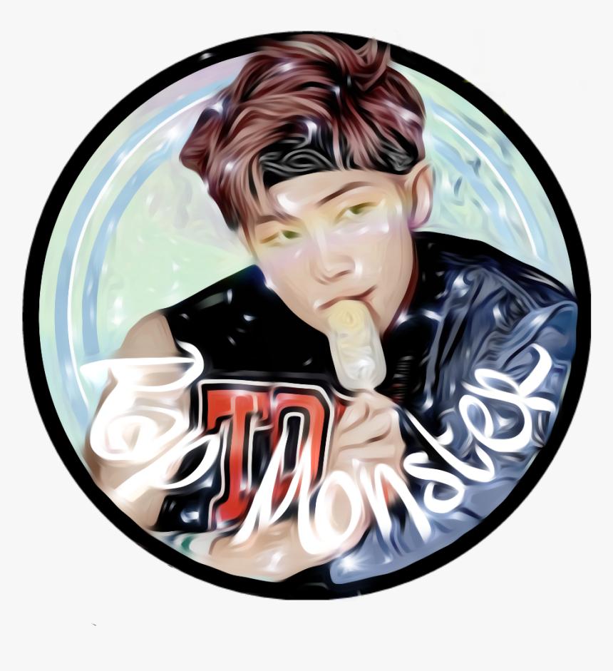 My Bias Eating Ice Cream Namjoon Rm Namjoonedit Bts - Bts Namjoon Edit Png, Transparent Png, Free Download