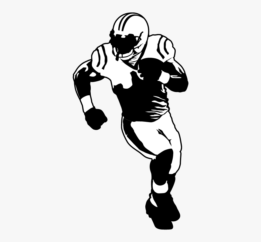 American Football Football Player Drawing - American Football Player Silhouette Png, Transparent Png, Free Download