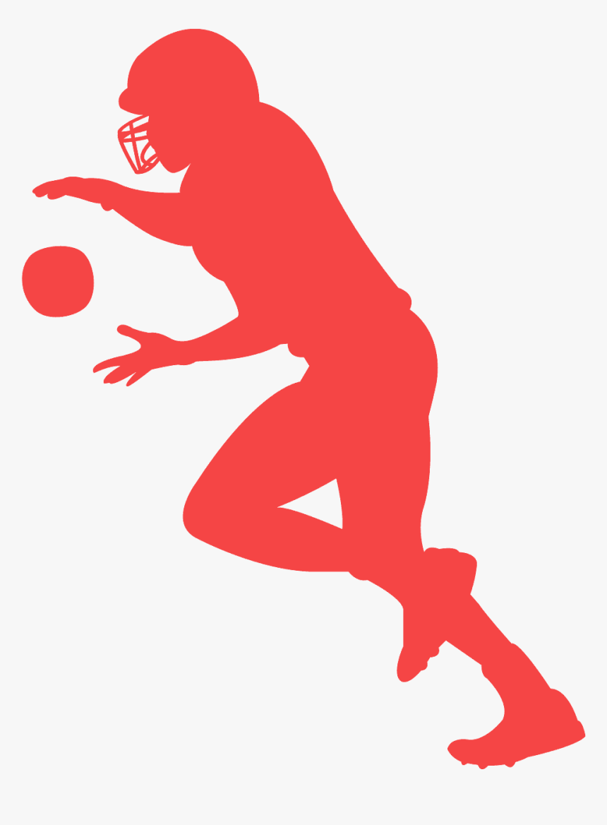 Blue Silhouette American Football, HD Png Download, Free Download