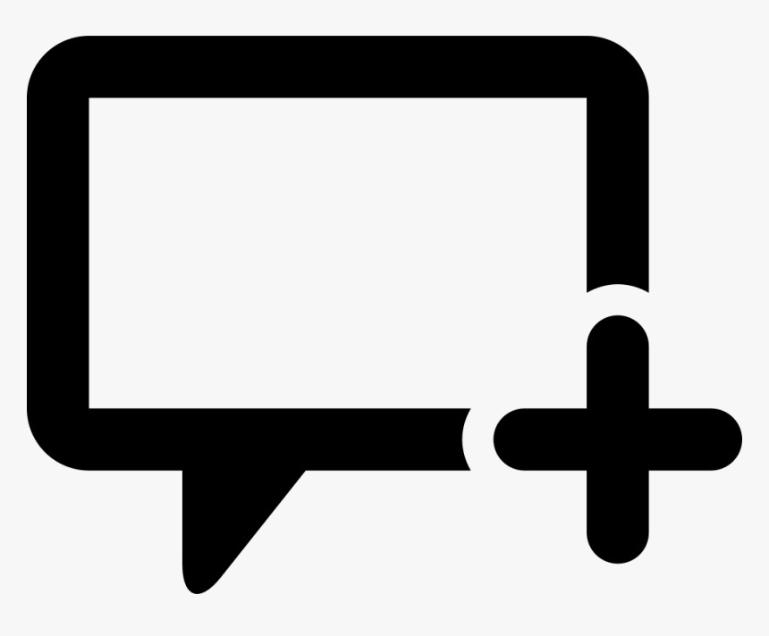 Add Dialogue Box - Icon, HD Png Download, Free Download