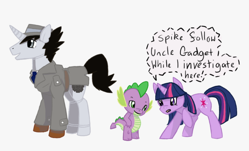 Eternity9, Inspector Gadget, Ponified, Safe, Spike, - My Little Pony Inspector Gadget, HD Png Download, Free Download