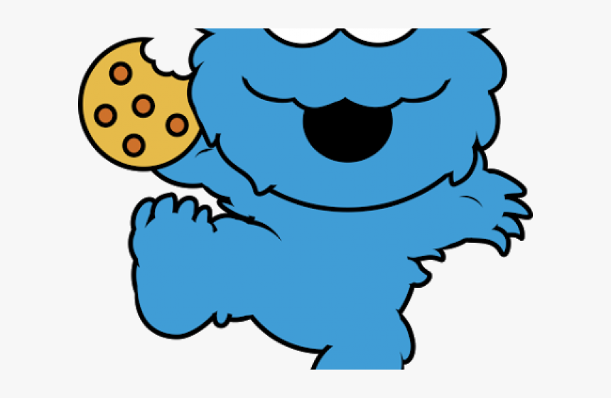 Face Clipart Cookie Monster - Cute Cookie Monster Drawings, HD Png Download, Free Download