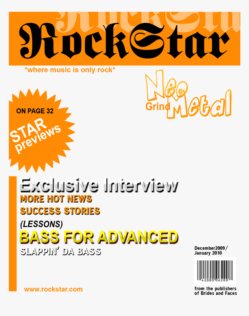 Transparent Magazine Cover Png - Music Magazine Cover Template, Png Download, Free Download