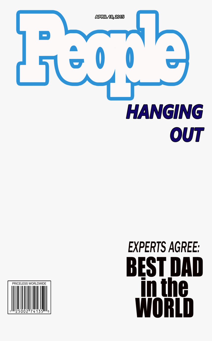 Daddy Daughter Layout Overlay 106 Kb - Magazine Cover Green Screen, HD Png Download, Free Download