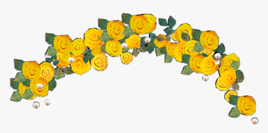 Hd Yellow Cute Flower - Yellow Flower Crown Transparent, HD Png Download, Free Download