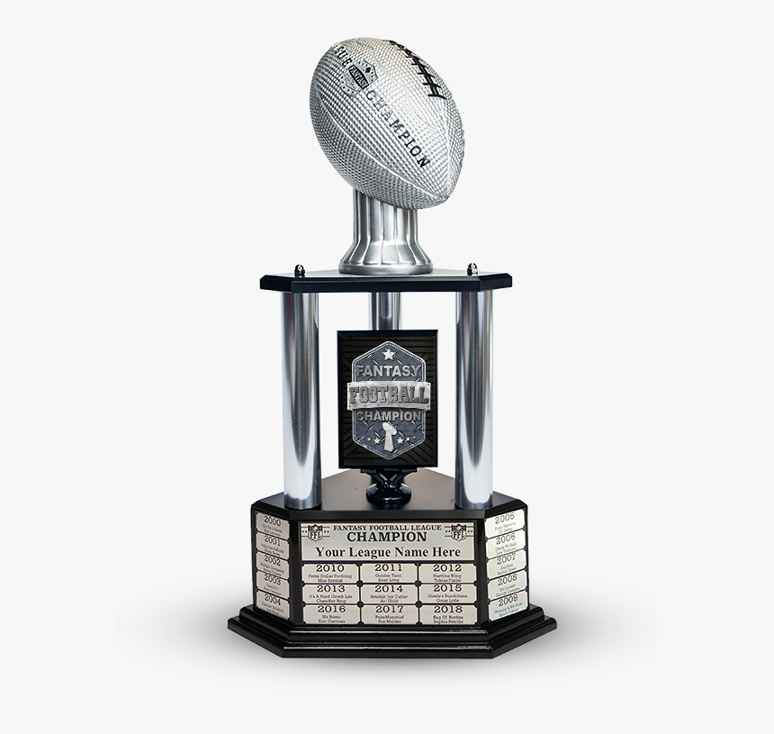 Transparent Silver Trophy Png - 2018 Fantasy Football Trophy, Png Download, Free Download