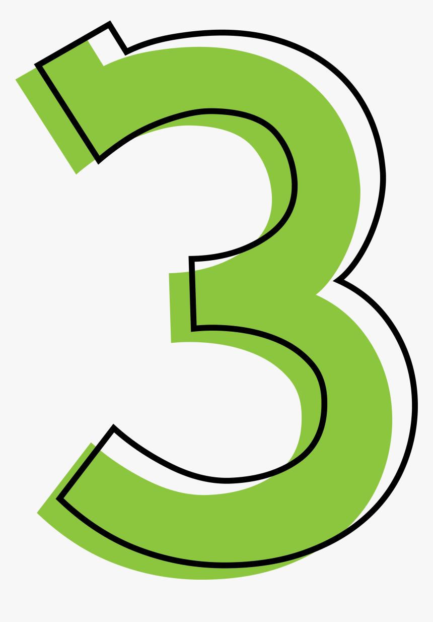 Number 3 Transparent Image - Green Number 3 Png, Png Download, Free Download