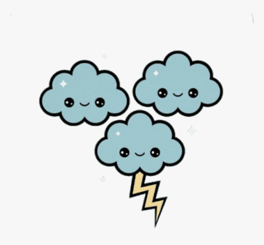 Cloud Clipart Kawaii Thunder Kawaii Hd Png Download Kindpng