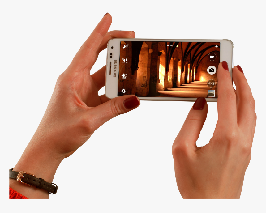 Taking Picture From Smartphone Png Image - Take Good Pictures With Android, Transparent Png, Free Download