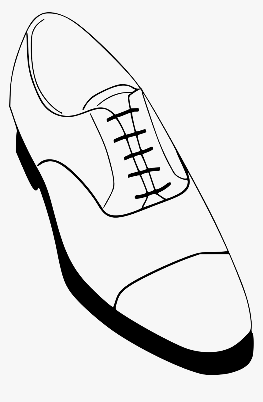 Boots Svg Black And White , Mens Dress Shoes Drawing, HD Png