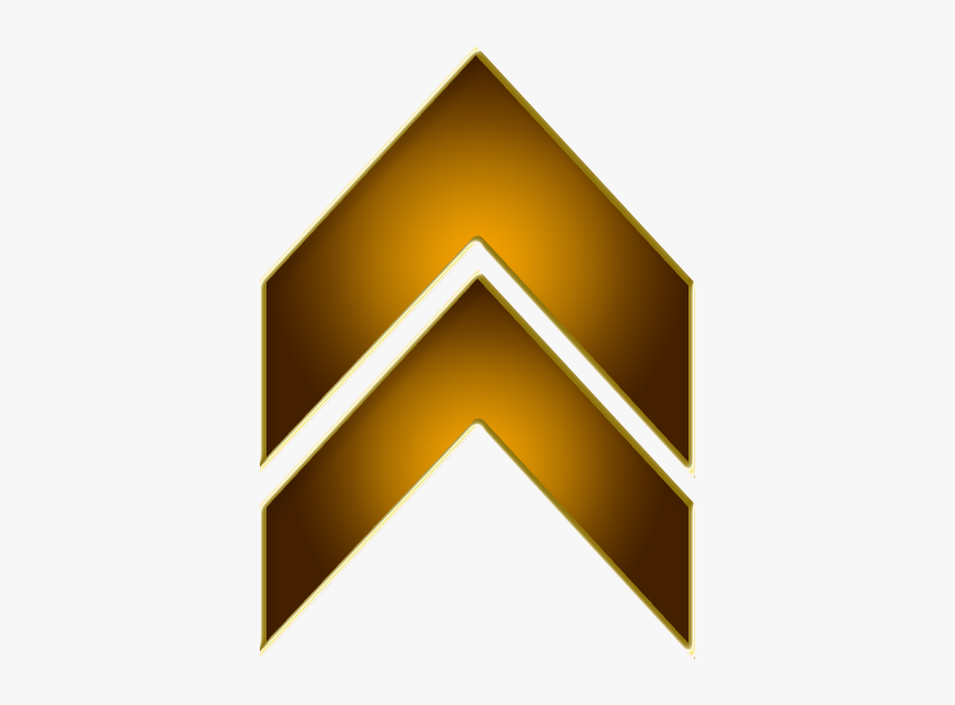 Double Arrow Brown Up - Up Arrow Gold Png, Transparent Png, Free Download
