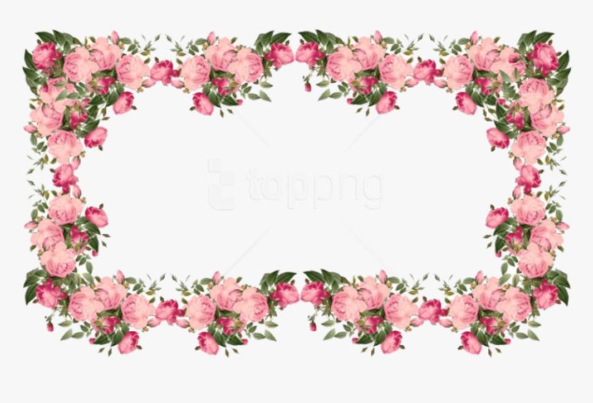 Pink Flowers Border Png Pink Flower Border Transparent