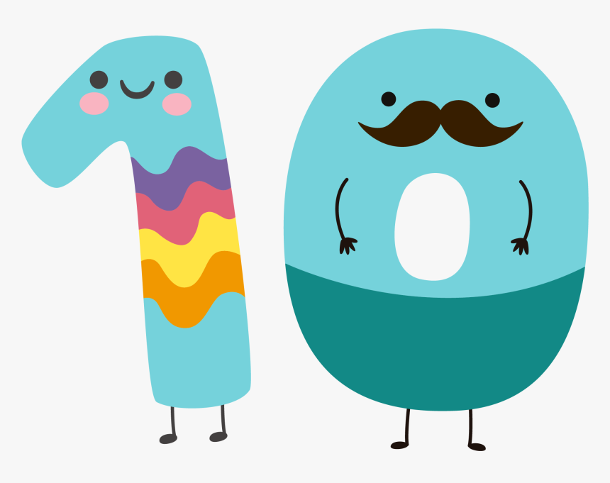 100 Number Images Cartoon, HD Png Download, Free Download