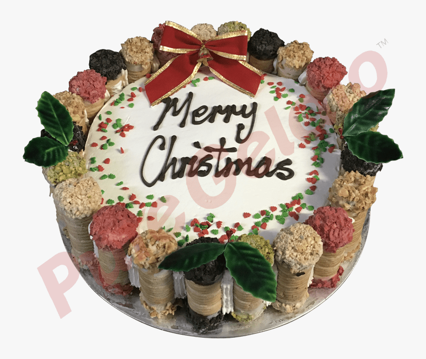 Excellent Cannoli Gelato Cake Christmas Themed Cake Decorating Hd Png Funny Birthday Cards Online Eattedamsfinfo