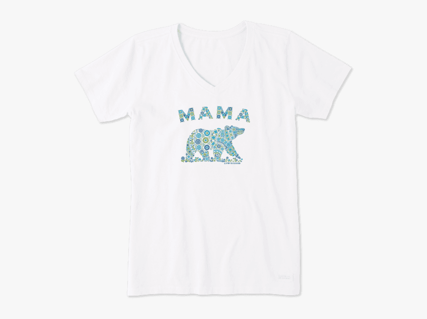 "Women""s Primal Mama Bear Crusher Vee - Life Is Good Book Shirt, HD Png Download, Free Download"
