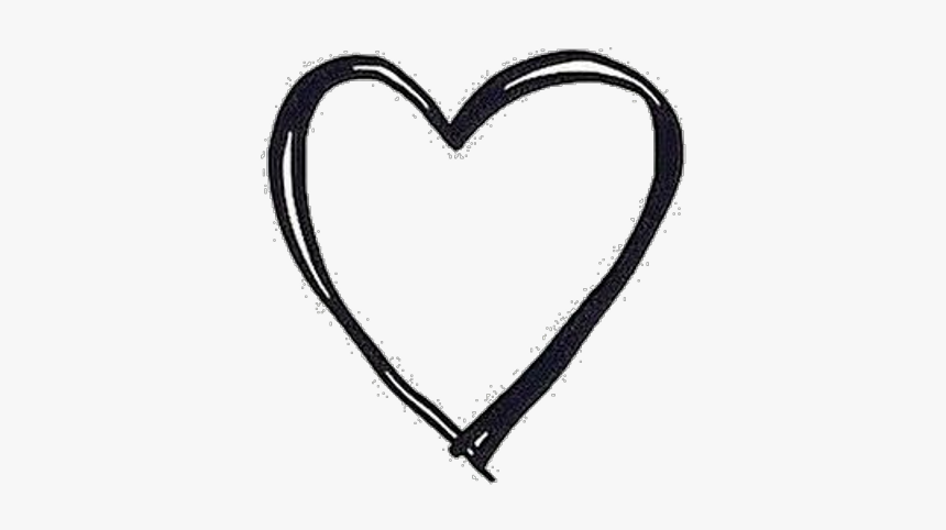Corazon Png - Mariarodgo Sticker - Black And White Simple Heart, Transparent Png, Free Download