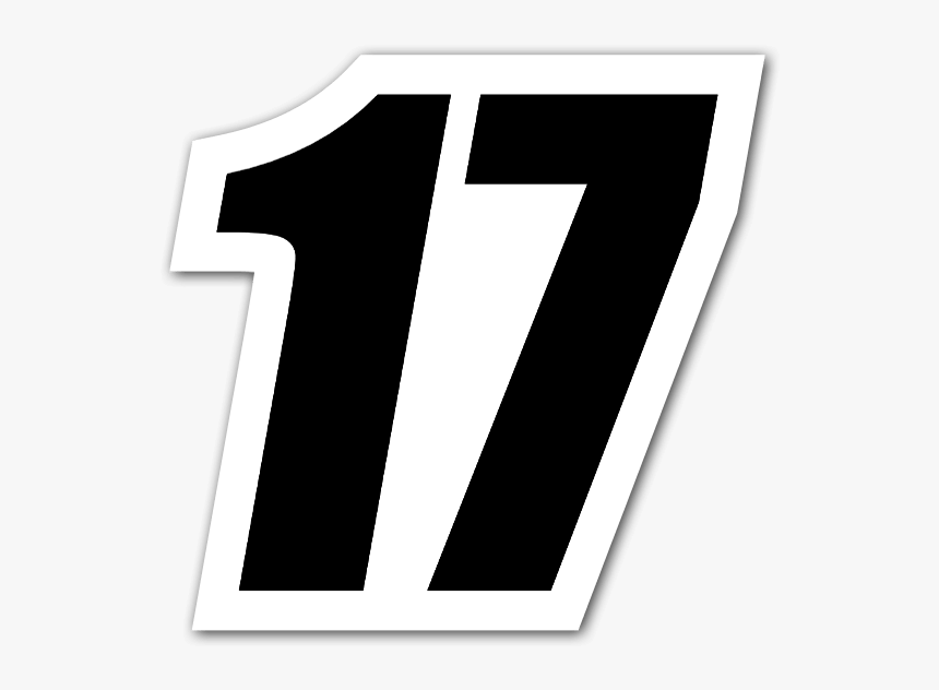 Black Sticker For - Imagenes Del Numero 17, HD Png Download, Free Download