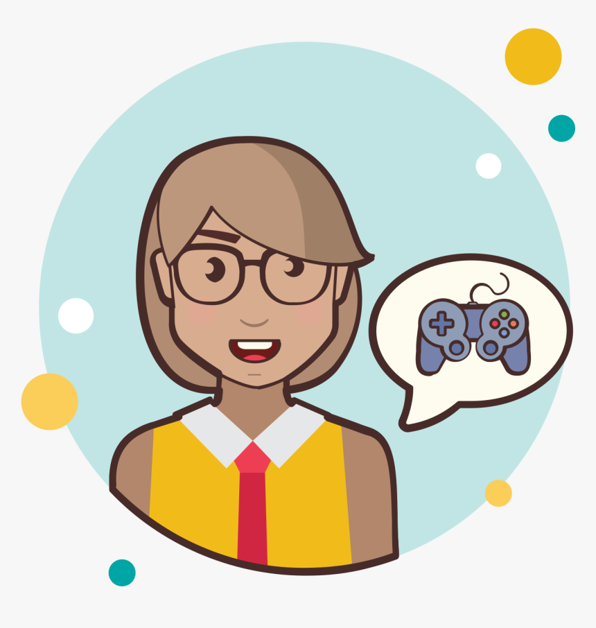 Circle Bubbles Icon - Girl Have Question Png, Transparent Png, Free Download