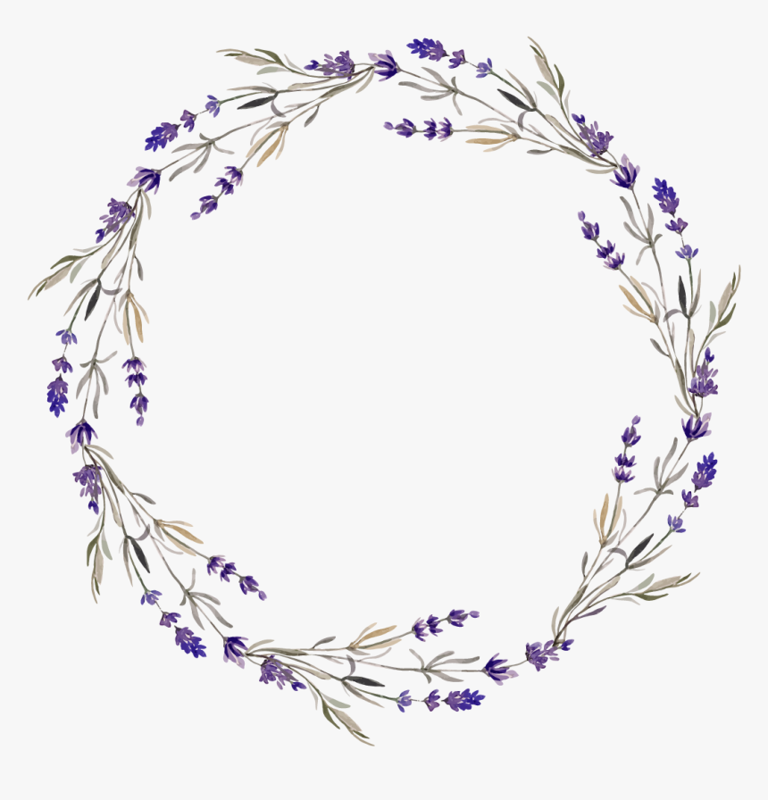 Purple Flower Wreath Png, Transparent Png, Free Download