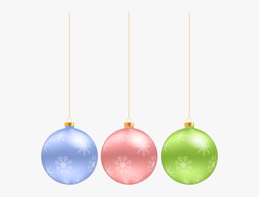 Christmas Hanging Ornaments Clip Art Image - Hanging Christmas Ornaments Clip Art Free, HD Png Download, Free Download