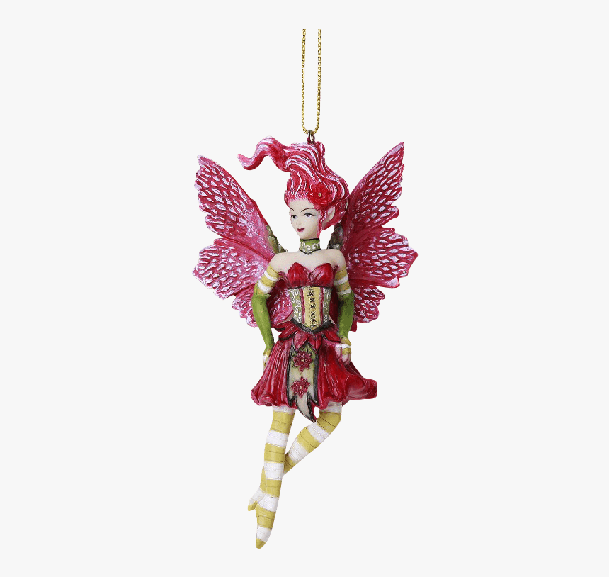 Poinsettia Fairy Hanging Ornament - Fairy Ornaments For Christmas Tree, HD Png Download, Free Download
