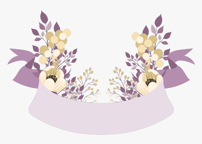 #banner #banners #floral #flower #flowers #sign #ftestickers - Floral Banner Png, Transparent Png, Free Download