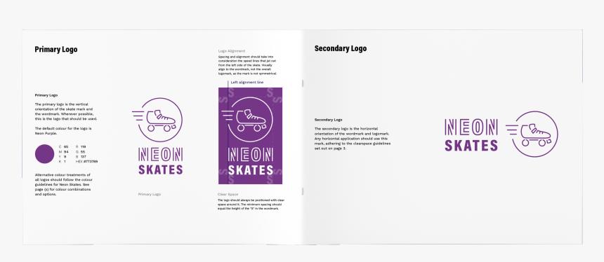 Neon Skates Mockup - Graphic Design, HD Png Download, Free Download
