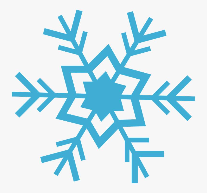 Flake, Snow, Blue, Ice, Winter, Snowflake - Transparent Snowflake, HD Png Download, Free Download