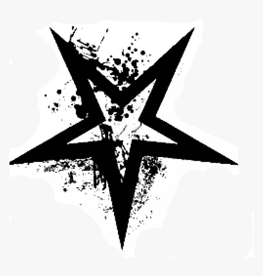Grunge Star Free Vector - Black And White, HD Png Download, Free Download