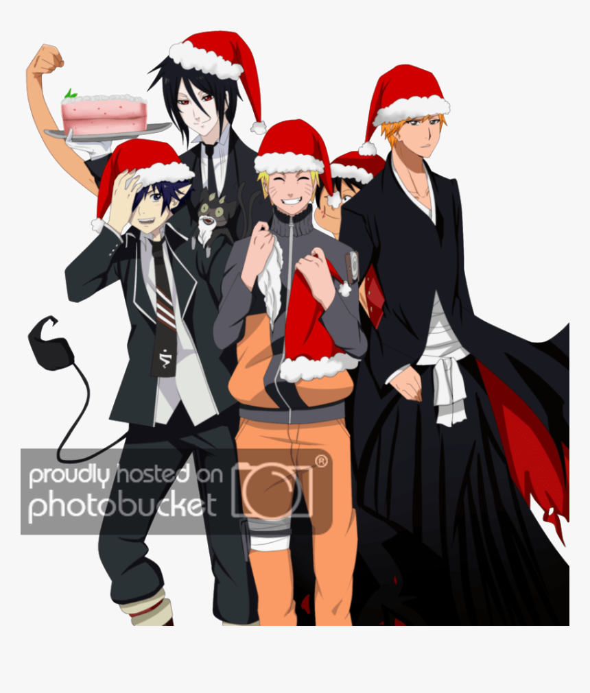 Naruto And Rin Okumura , Png Download - Anime Crossover Christmas, Transparent Png, Free Download