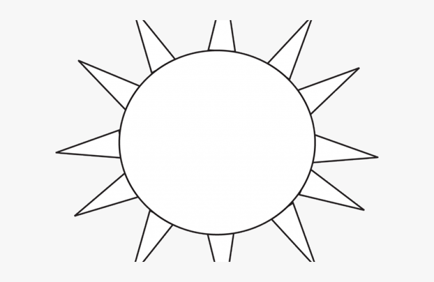 Black And White Sun Clipart White Sun Clip Art Hd Png Download