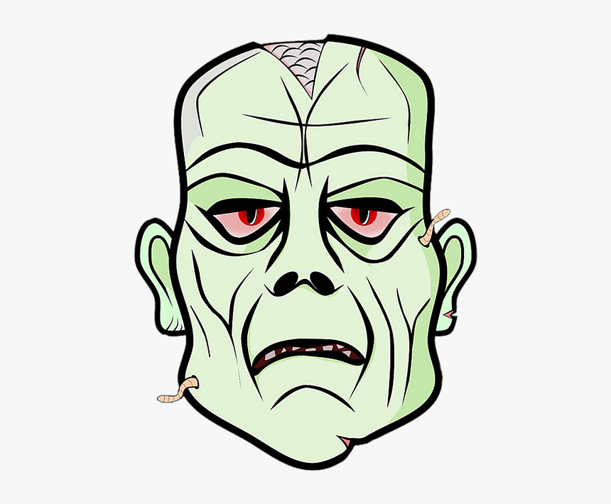 Zombie Head Cartoon Png, Transparent Png, Free Download