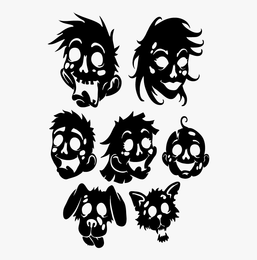 Zombie Family Decal Set - Zombie Decal, HD Png Download, Free Download