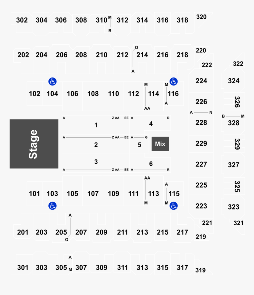 Royal Farms Arena Seating Chart With Seat Numbers, HD Png Download, Free Download