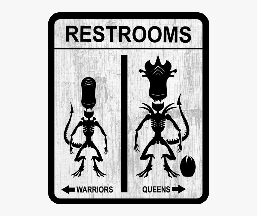 Bathroom Signs Alien, HD Png Download, Free Download