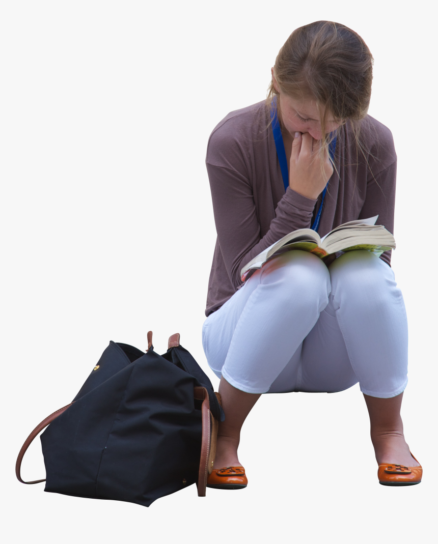 Young Girl Reading Book - Reading Book People Png, Transparent Png, Free Download
