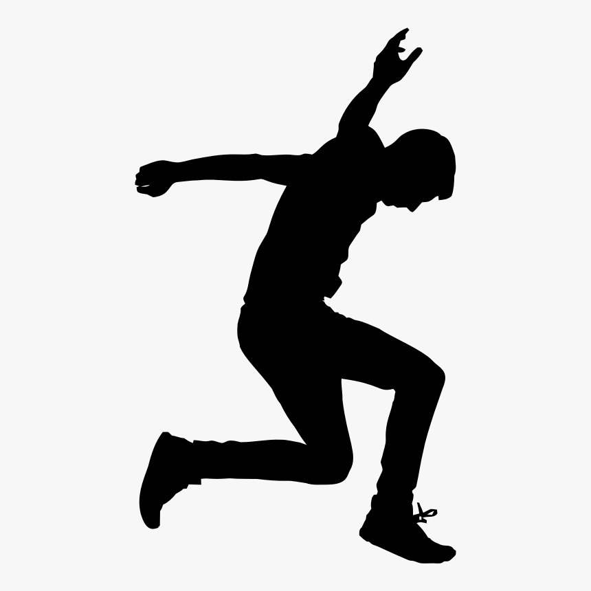 Jumping Man Silhouette - Take A Leap Of Faith, HD Png Download, Free Download