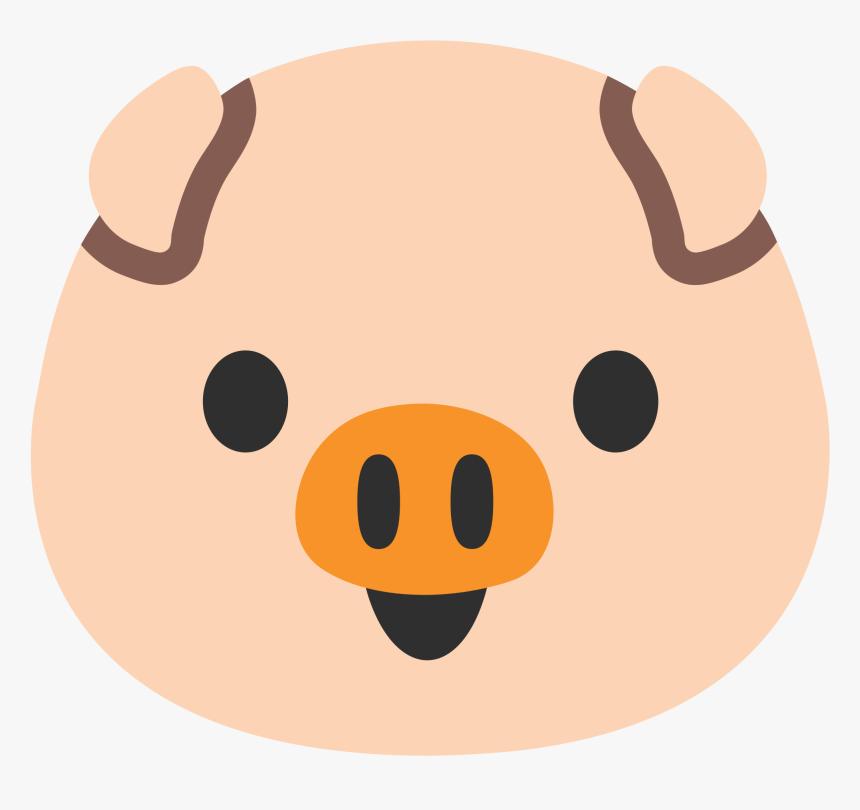 File Emoji U F - Pig Face Png, Transparent Png, Free Download