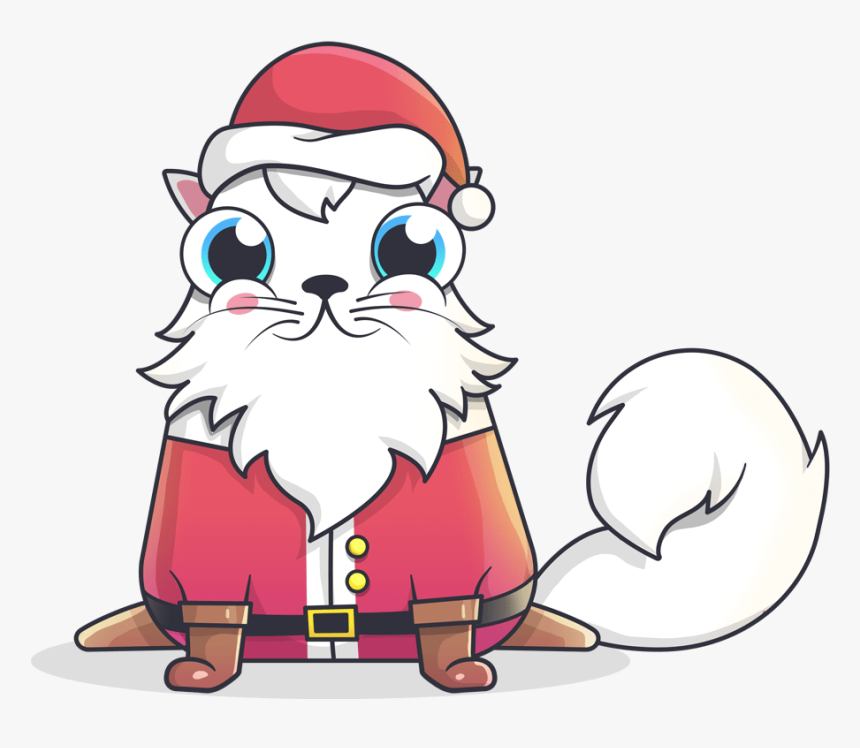 Cryptokitty Santa Claus Png - Cryptokitty Png, Transparent Png, Free Download