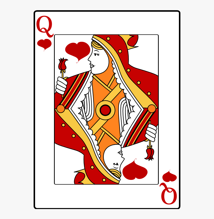 Queen Of Hearts - Card Queen Of Hearts, HD Png Download, Free Download