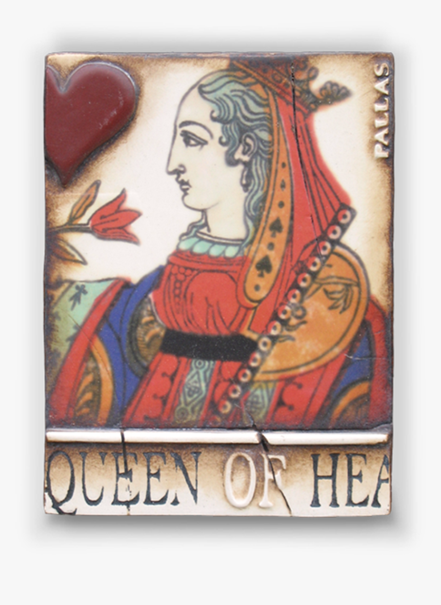 Transparent Queen Of Hearts Card Png - Sid Dickens Queen Of Hearts, Png Download, Free Download