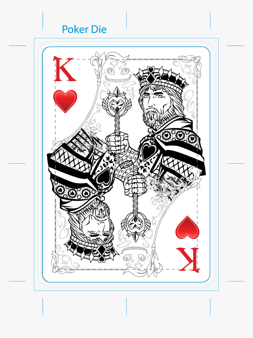 King Card Tattoo - King And Queen Of Hearts Cards, HD Png Download, Free Download