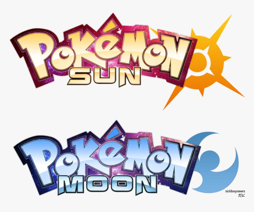 Pokemon Sun/moon By Sickboyrawrs - Sun And Moon Logo Pokemon Anime, HD Png Download, Free Download