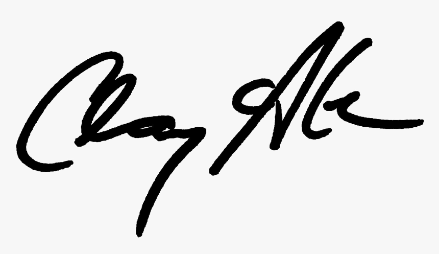 Clay Aiken Signature - Calligraphy, HD Png Download, Free Download