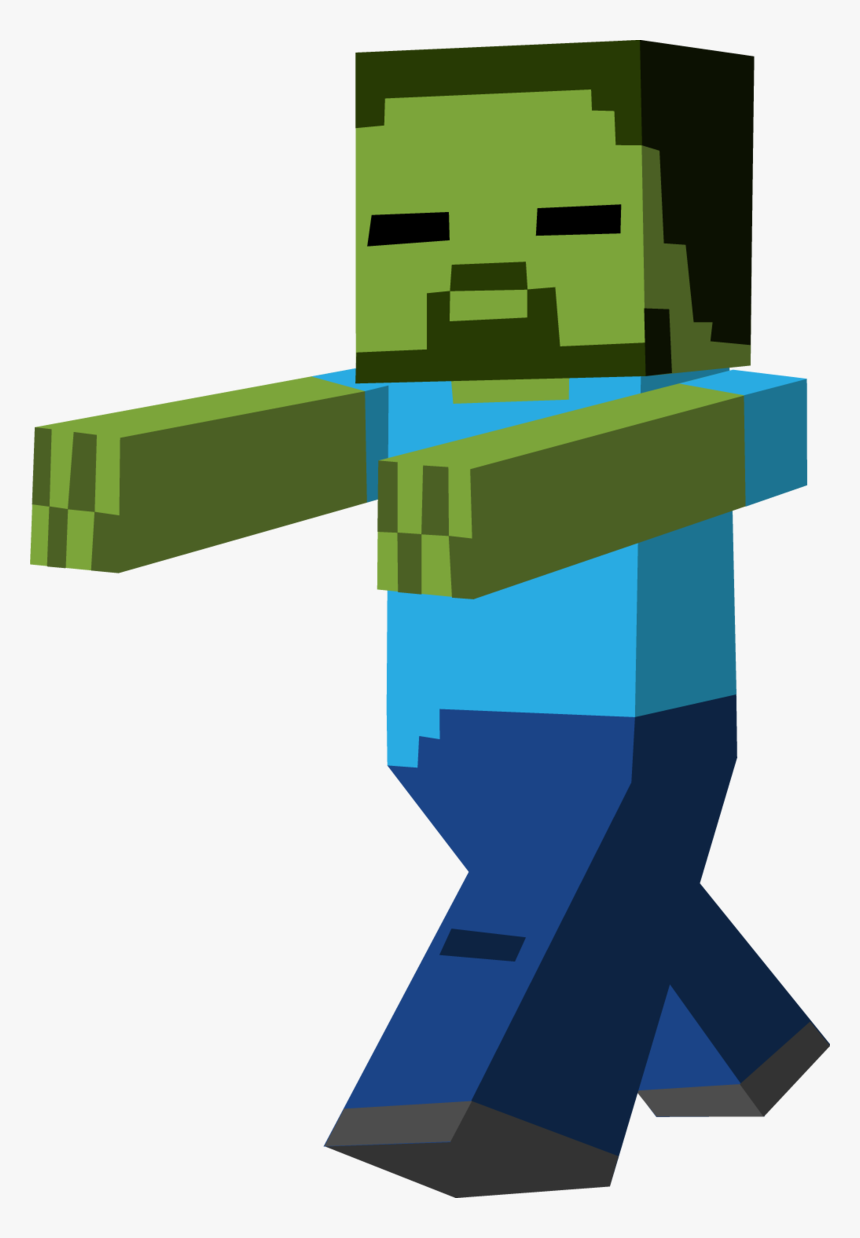 Pocket Edition Zombie Clipart Minecraft - Minecraft Png, Transparent Png, Free Download