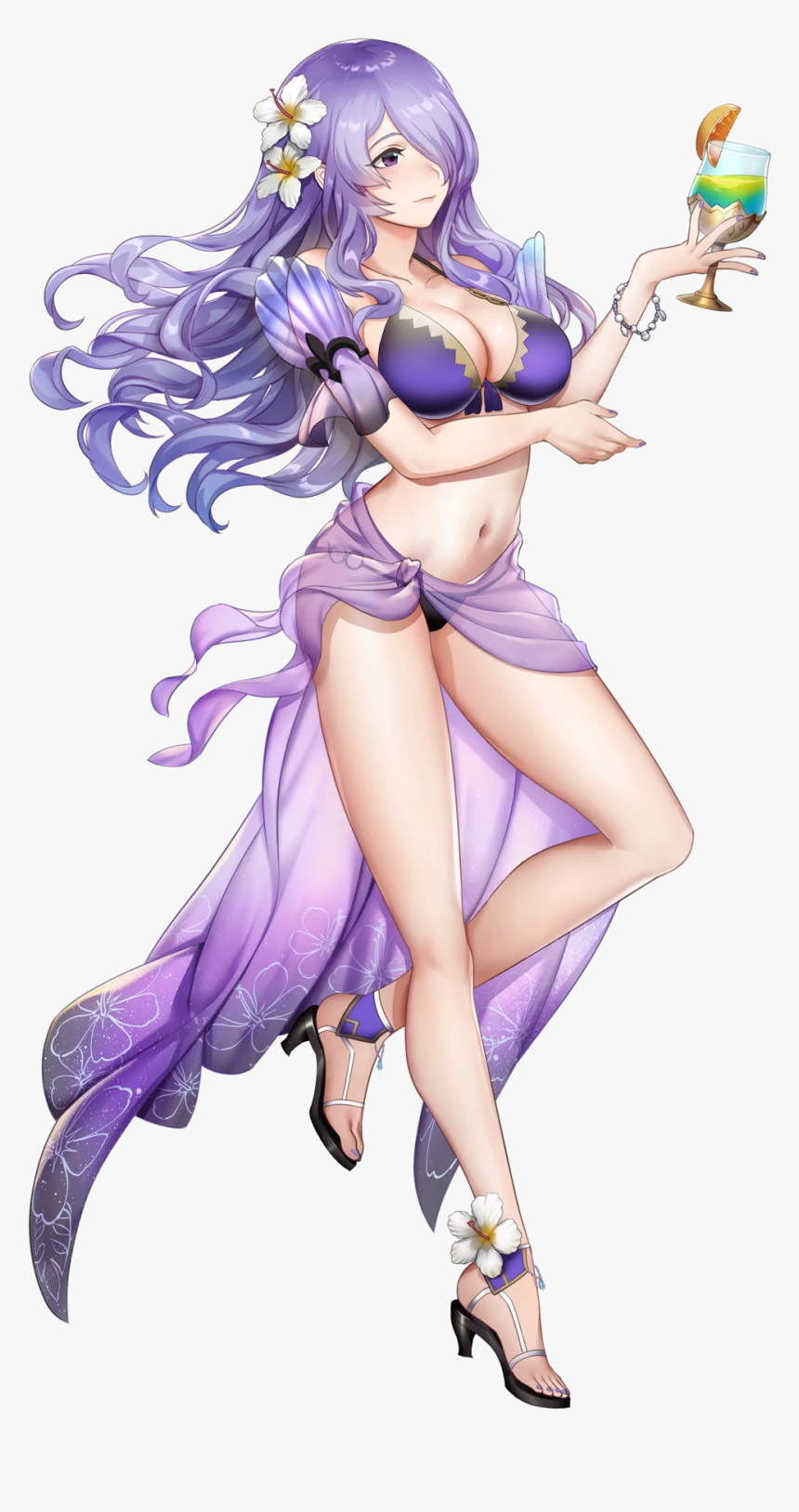Fictional Character Purple Mythical Creature Cartoon - Fire Emblem Heroes Camilla, HD Png Download, Free Download